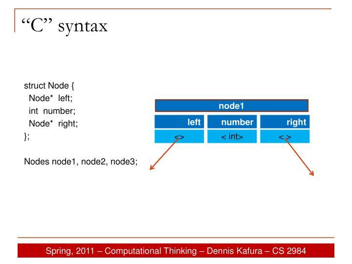 """""""C"""" syntax"""