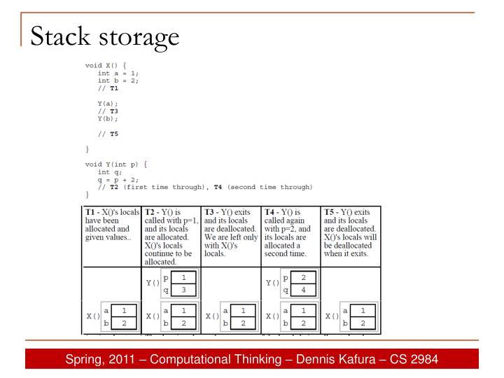 Stack storage