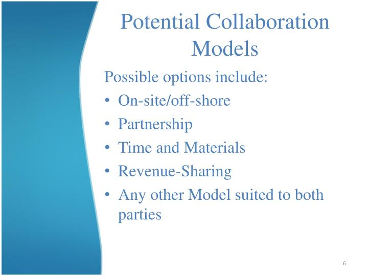 Potential Collaboration Models