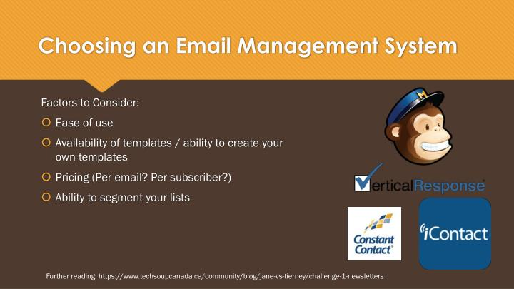 Choosing an Email Management System