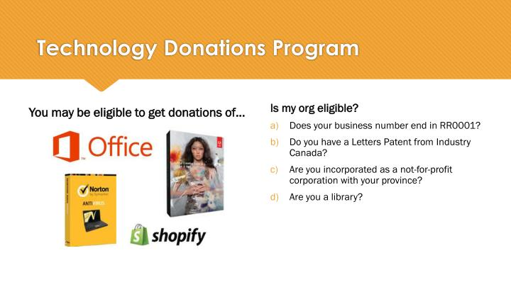 Technology Donations Program