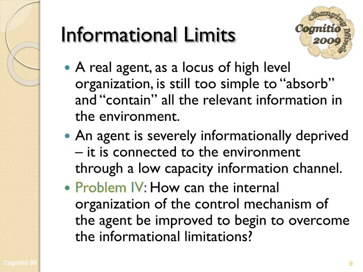 Informational Limits