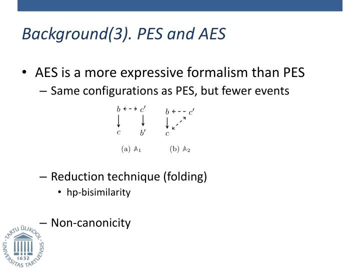 Background(3). PES and AES