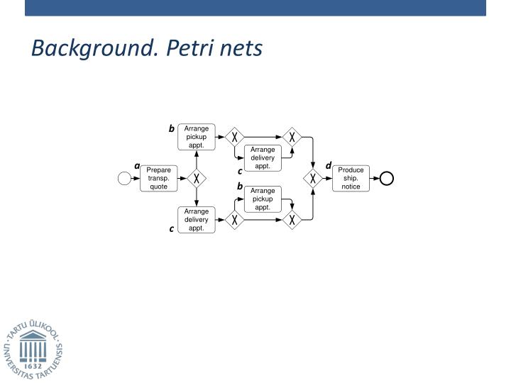 Background. Petri nets