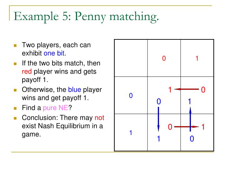 Example 5: Penny matching.