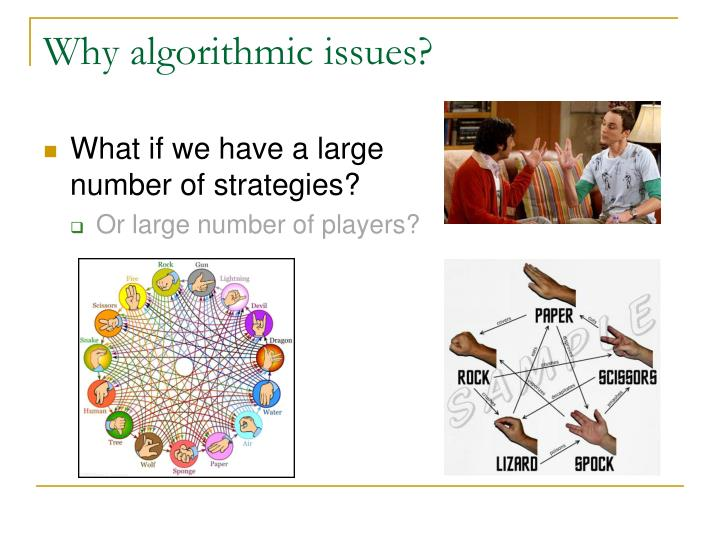 Why algorithmic issues?