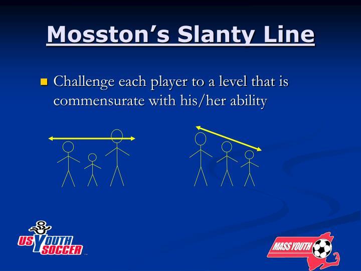 Mosston's Slanty Line