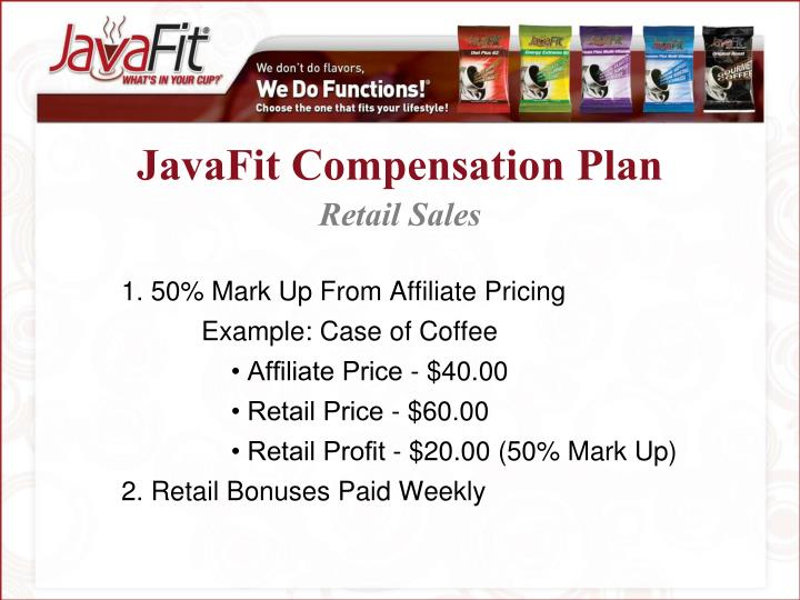 JavaFit Compensation Plan