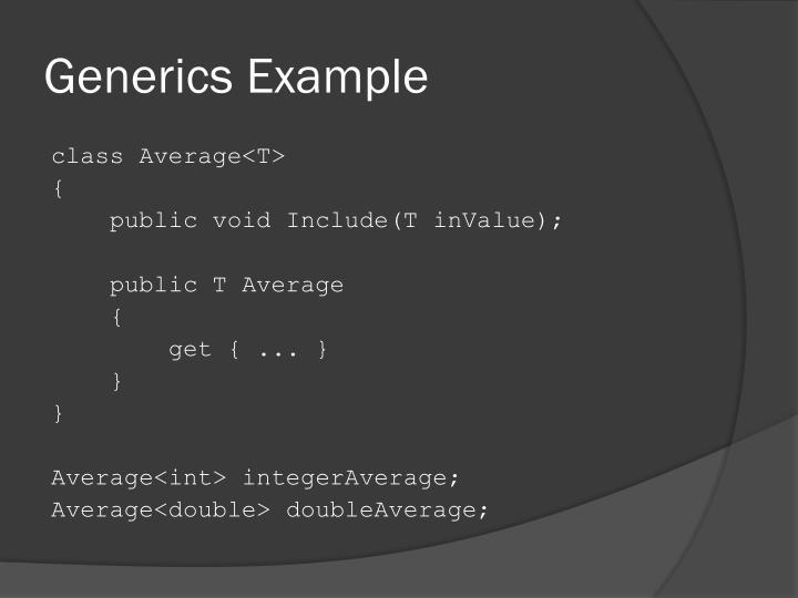 Generics Example