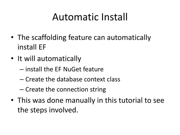 Automatic Install