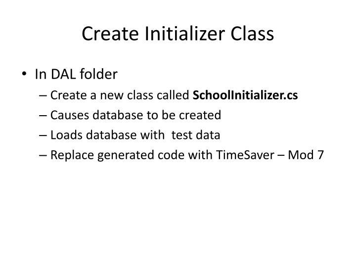 Create Initializer Class