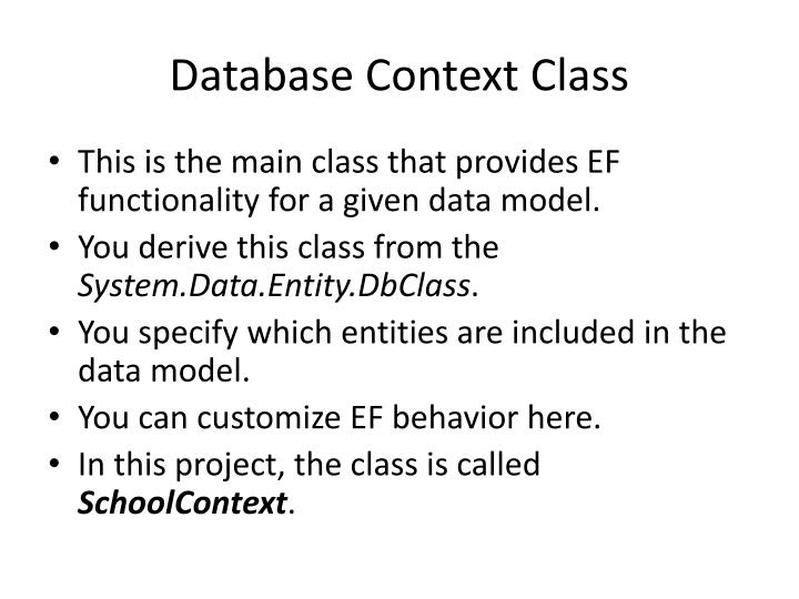 Database Context Class
