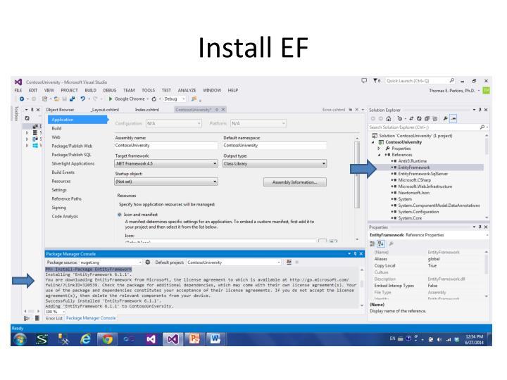 Install EF