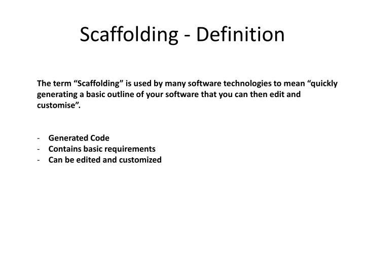 Scaffolding - Definition