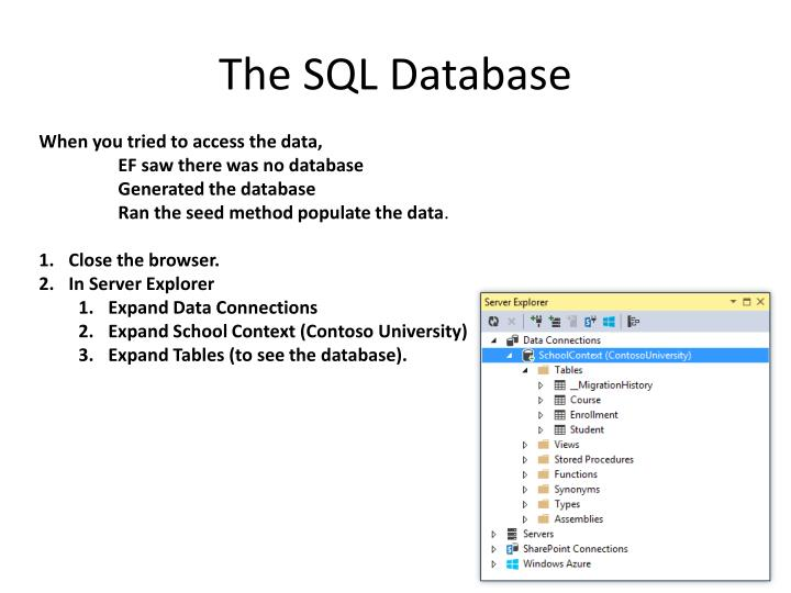 The SQL Database