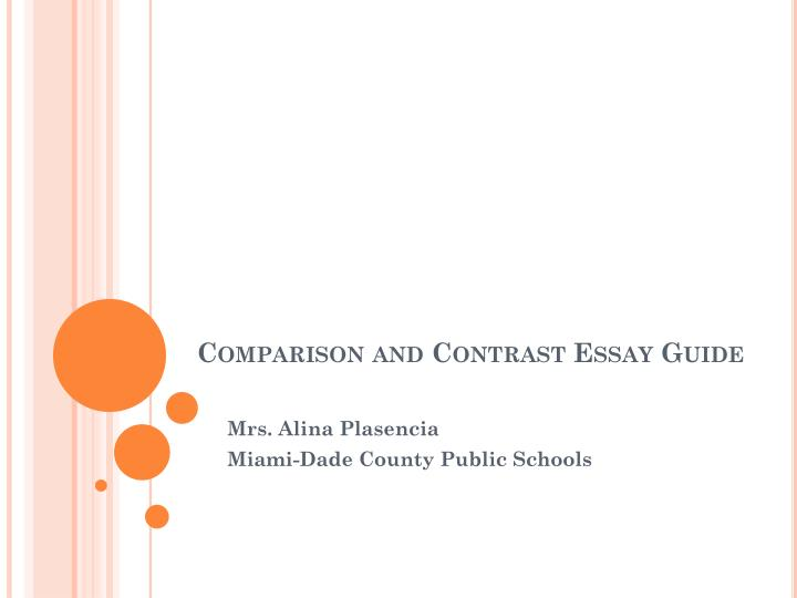 compare contrast essay three subjects