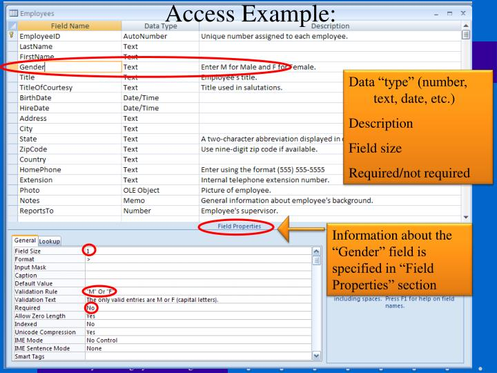 Access Example: