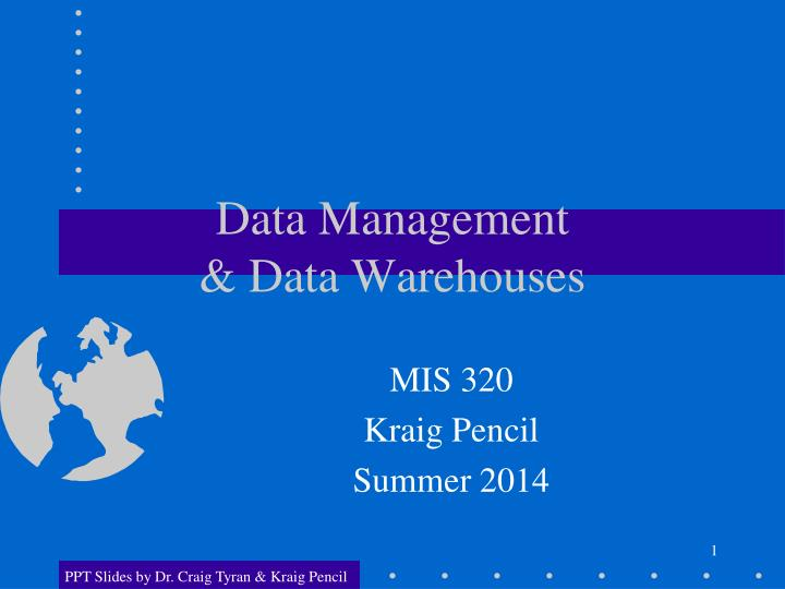 Data management data warehouses