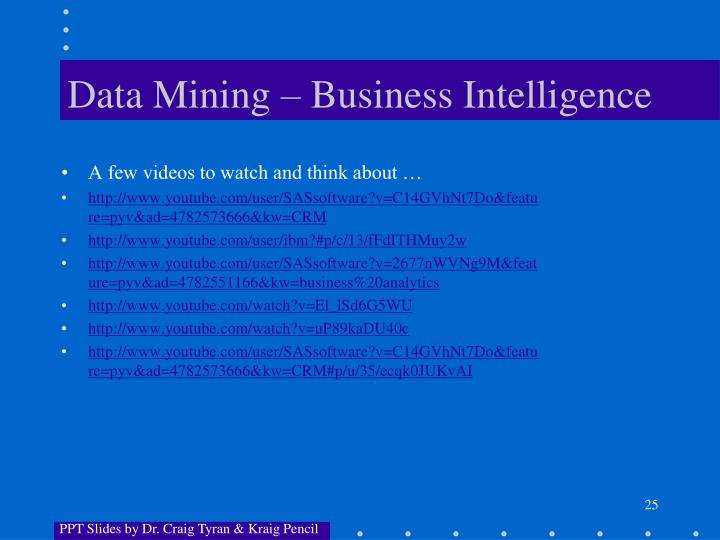 Data Mining – Business Intelligence