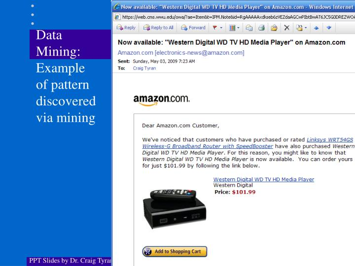 Data Mining: Example of pattern discovered via mining