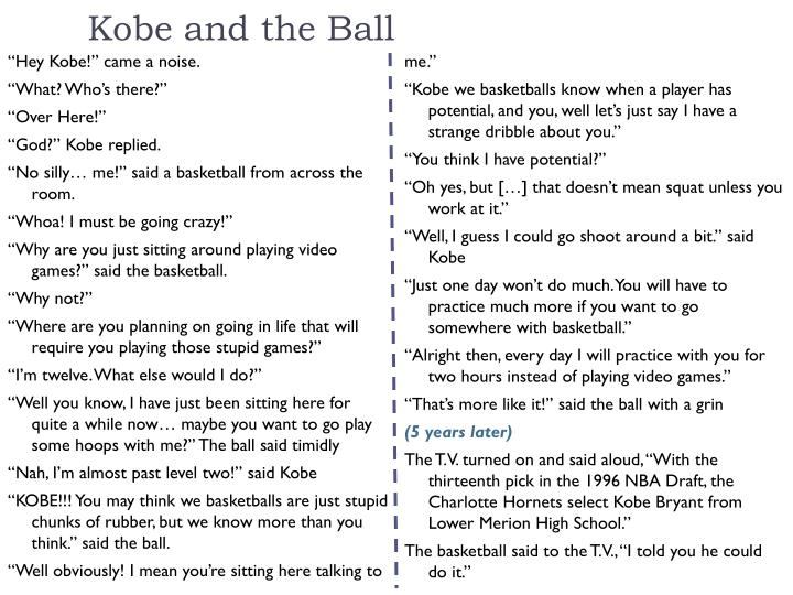 Kobe and the Ball