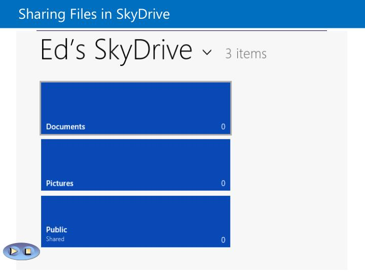 Sharing Files in SkyDrive