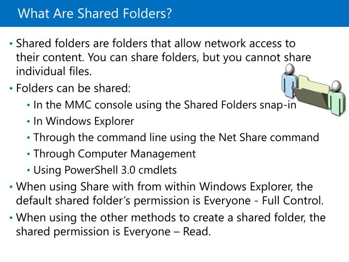 What Are Shared Folders?