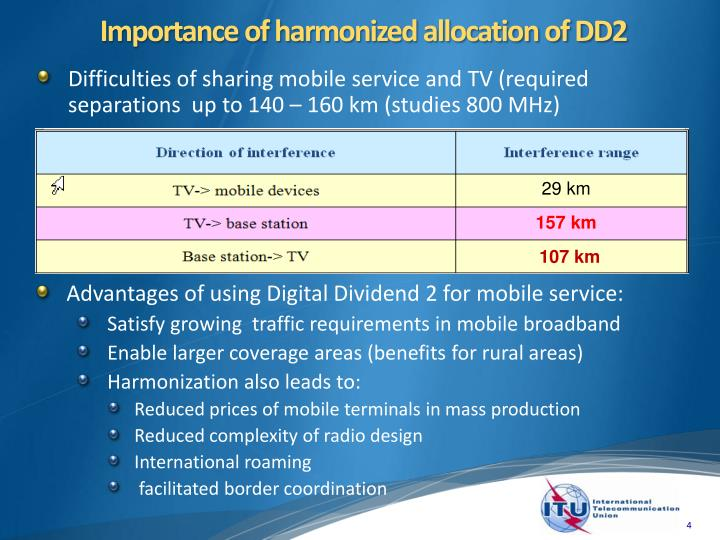Importance of harmonized allocation of DD2