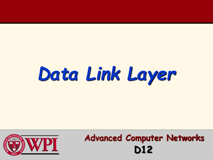 Advanced computer networks d 12