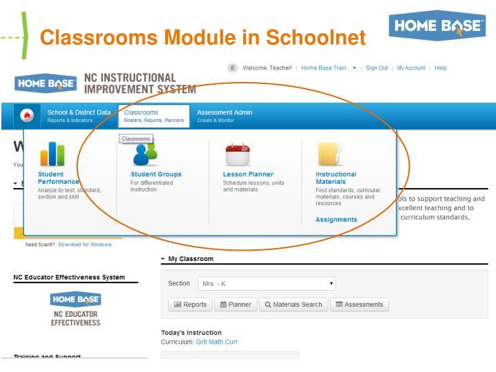 Classrooms Module in Schoolnet