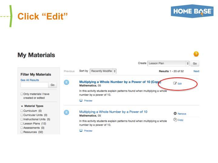 """Click """"Edit"""""""