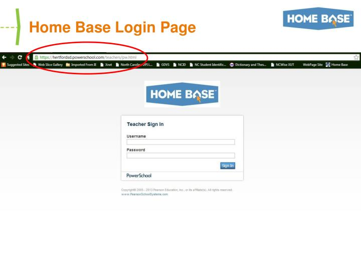 Home Base Login Page