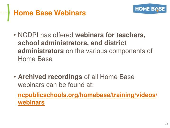 Home Base Webinars
