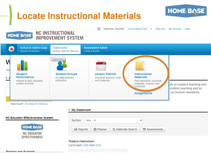 Locate Instructional Materials