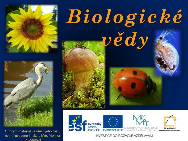 Biologické vědy