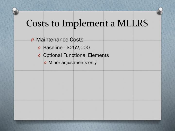 Costs to Implement a MLLRS