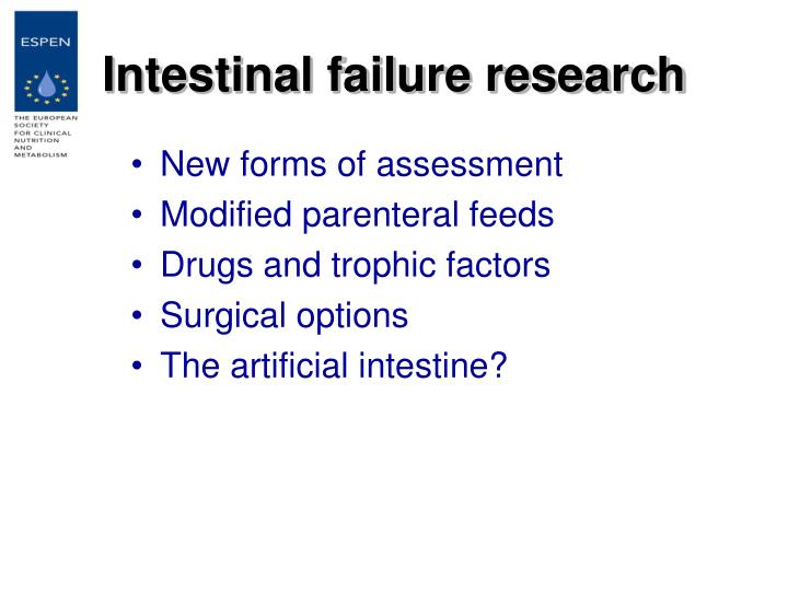 Intestinal failure research