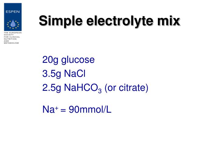 Simple electrolyte mix