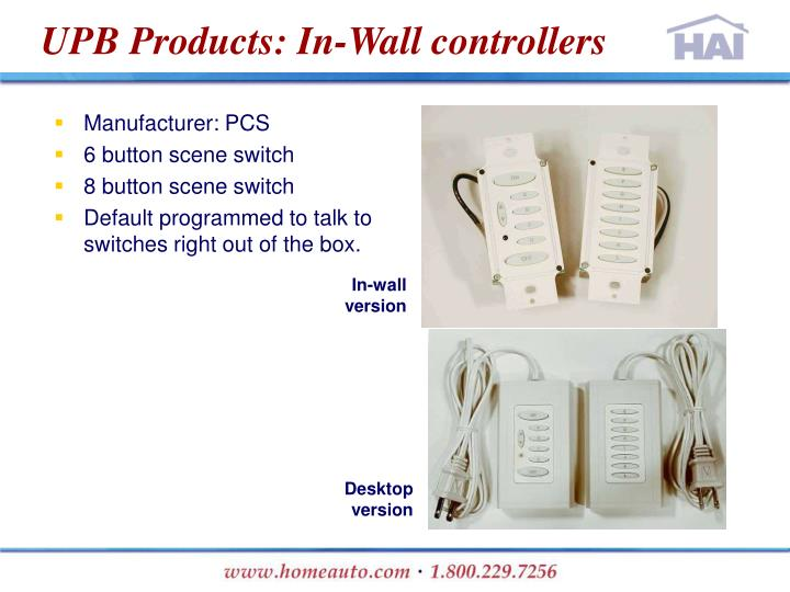 UPB Products: In-Wall controllers