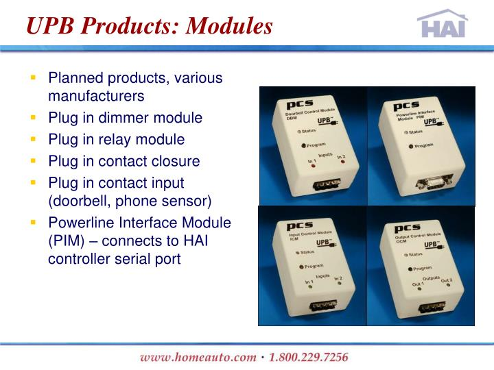 UPB Products: Modules