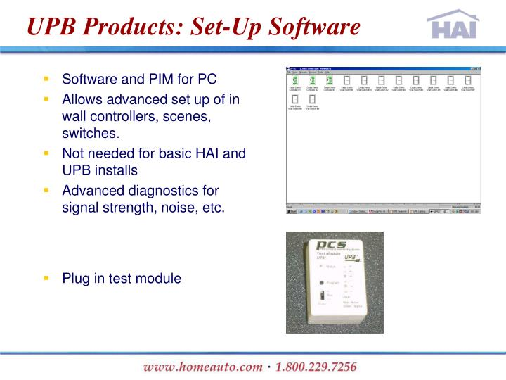 UPB Products: Set-Up Software