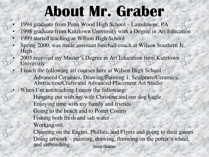 About Mr. Graber
