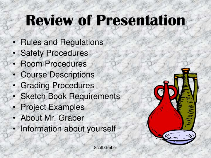 Review of Presentation