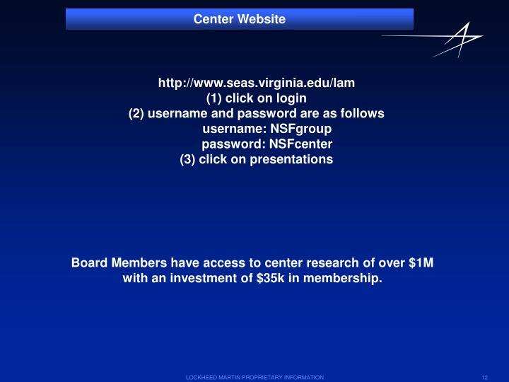 Center Website