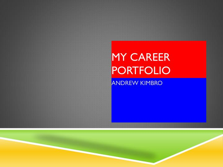 MY CAREER PORTFOLIO