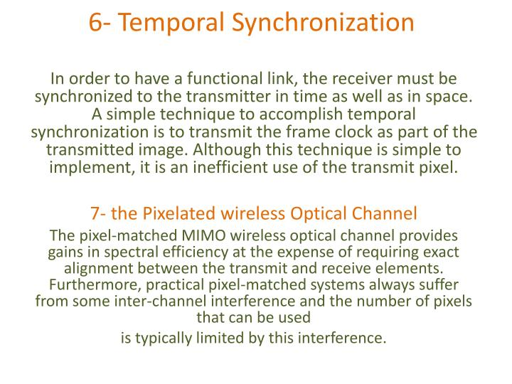 6- Temporal Synchronization