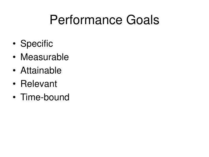 Performance Goals