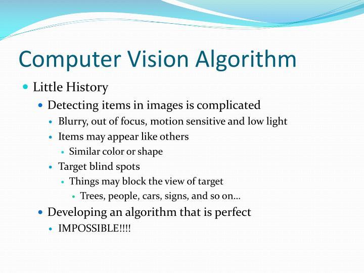 Computer Vision Algorithm