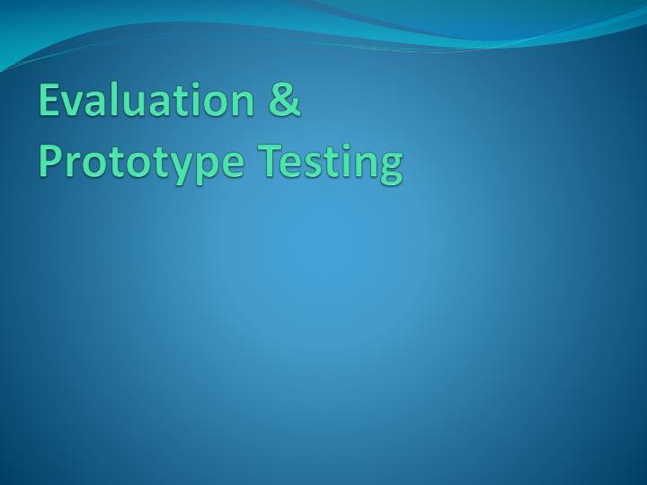 Evaluation &