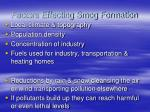 factors effecting smog formation